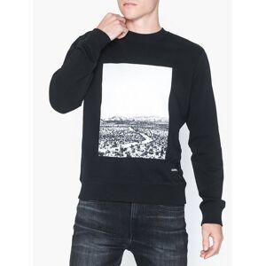 Calvin Klein Jeans Photo Print Road Reg Cn Gensere Svart