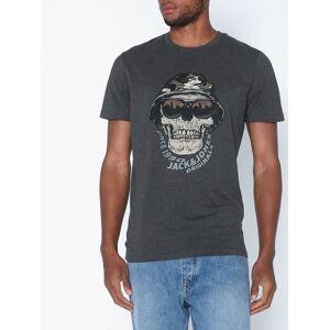 Jack & Jones Jorcona Tee Ss Crew Neck T-skjorter og singleter Mørk grå