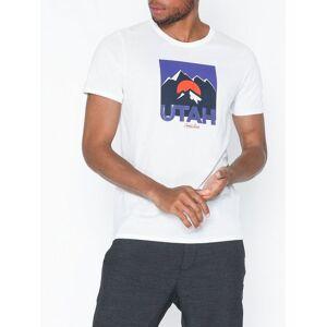 Jack & Jones Jordenvers Tee Ss Crew Neck T-skjorter og singleter Hvit