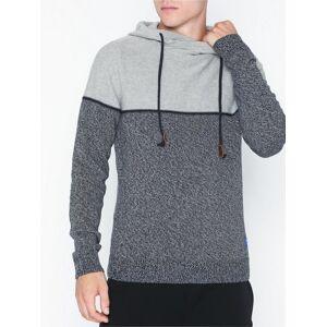 Jack & Jones Jorbrayson Knit Hood Sts Gensere Lys grå