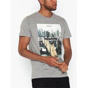 Jack & Jones Jorcool City Tee Ss Crew Neck T-skjorter og singleter Lys grå