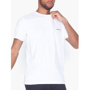 Selected Homme Slhnick Emb Ss O-Neck Tee W T-skjorter og singleter Hvit