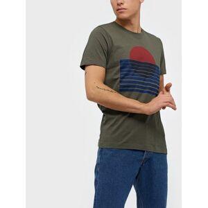Selected Homme Slhjared Print Ss O-Neck Tee W T-skjorter og singleter Beetle