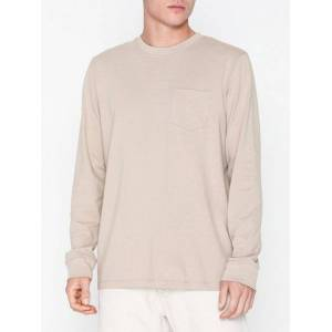 Topman Relaxed LS T-shirt Gensere Stone