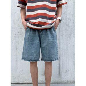 Newchic Men Casual Overknee Denim Shorts