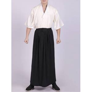 Newchic Men Japanese Kimono Three-piece Suit