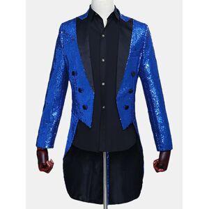 Newchic Sequin Tuxedo Magic Show Blazer for Men