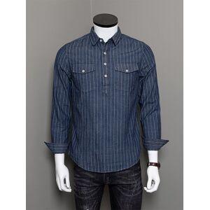 Newchic Men Striped Retro Style Cotton Shirt