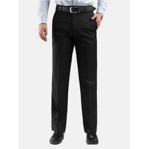 Newchic Mens Plus 30-48 Thicken Warm Flat Front Straight Loose Pants Business Casaul Suit Pants