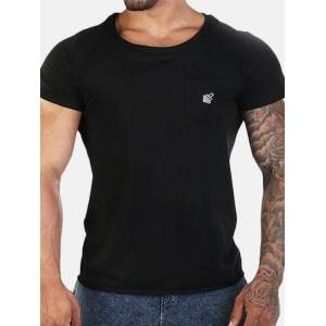 Newchic Mens Summer Breathable Sweat-absorbent Fitness Running Jersey Casual T Shirts