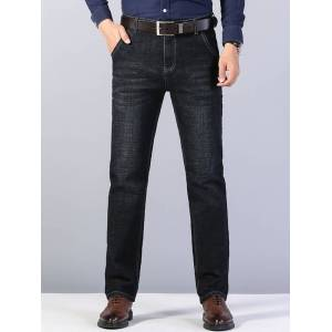 Newchic Mens Loose Straight Large Size Jeans Trousers