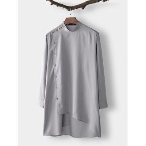 Newchic Men Indian Clothing Long Sleeve Saudi Arabia Kurta Tops Ethnic Dress Kaftan Robe Shirts
