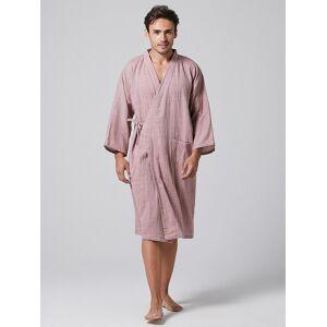 Newchic Men Thin Washed Cotton Kimono Pajamas Robe Loose Breathable Home Plain Loungewear With Pockets