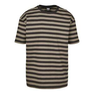 Urban Classics menns T-skjorte overdimensjonert garn farget fet stripe