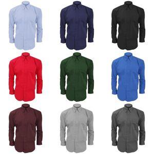 Kustom Kit Kustom orientert Kit Mens langermet Corporate Oxford skjorte Svart 14.5inch