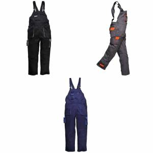 Portwest kontrast Bib & spenne / Workwear Grå/Orange 2XL x Regular
