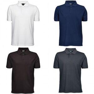 Tee Jays Mens Heavy Pique kort ermet Polo skjorte Hvit XL
