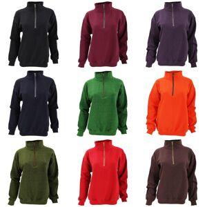 Gildan voksen Vintage 1/4 Sweatshirt glidelås Marinen 3XL