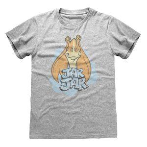 Star Wars Unisex Voksen Krukke Krukke Binks T-skjorte Grå Heather XXL