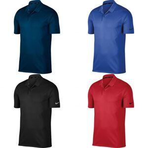 Nike Mens seier Polo Solid skjorte Universitetet rød/svart S