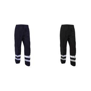 Yoko Mens reflekterende ballistisk bukser (vanlig) / Hei Vis Workwear (pakke med 2) Svart 38W x Regular