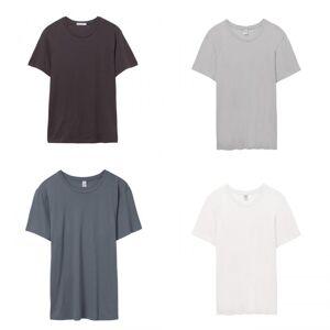 Alternative Apparel menns Organic Crew T-skjorte Ren svart S