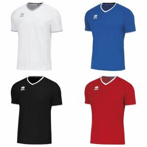 Errea Unisex Lennox kort erme T skjorte Rød/hvit XL