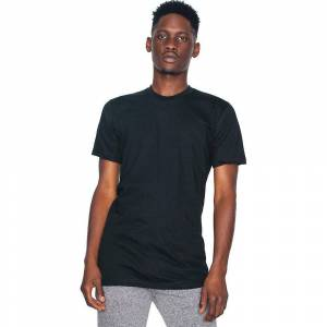 American Apparel Mens Fine Jersey Short Sleeve 100% Cotton T-Shirt ...