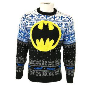 Batman Unisex Voksen Logo Christmas Jumper Svart/hvit/blå M