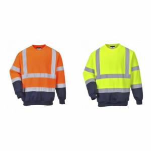 Portwest Mens Hi-Vis to Tone Sweatshirt Oransje/Navy XL