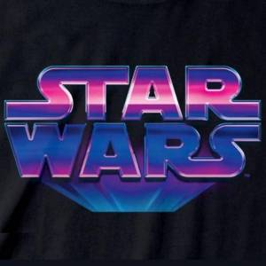 Star Wars Unisex Voksen 80-tallet Logo T-skjorte Svart L