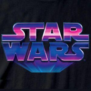 Star Wars Unisex Voksen 80-tallet Logo T-skjorte Svart XXL