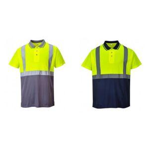 Portwest Mens Hi-Vis to Tone Polo skjorte Gul/grå S