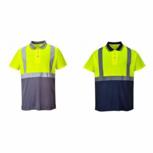 Portwest Mens Hi-Vis to Tone Polo skjorte Gul/grå XXL