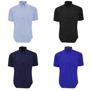Kustom Kit Kustom orientert Kit Mens Workwear Oxford kort ermet skjorte Hvit 15inch