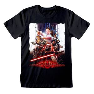 Star Wars Unisex Voksen Plakat T-skjorte Svart XXL