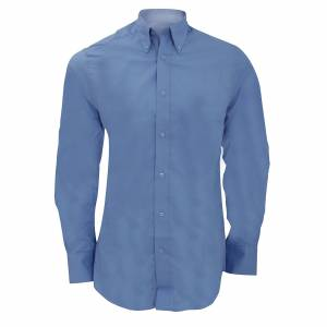 Kustom Kit Kustom orientert Kit Mens byen langermet Business skjorte Lys blå 19inch