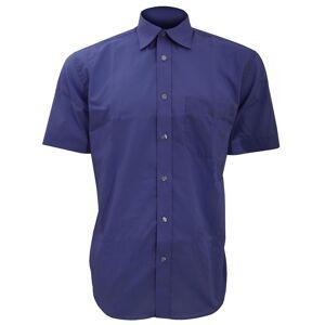 Kustom Kit Kustom orientert Kit Mens kort ermet Business skjorte Svart 17inch