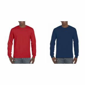 Gildan Herre langermet Hammer skjorte Sport Scarlet røde 4XL
