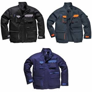 Portwest Mens kontrast slitesterk Workwear jakke (TX10) Marinen XL