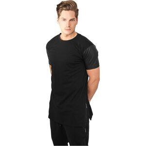 Urban Classics Urban klassikere T-Shirt zippet skinn imitasjon