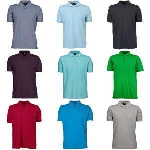 Gildan Tee Jays menns luksus strekk kort ermet Polo skjorte Svart S