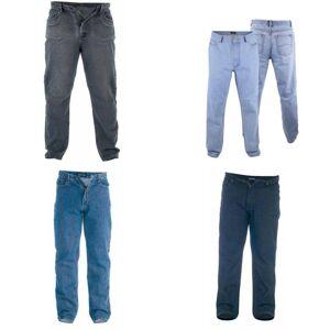 Duke Hertug Mens Rockford Dobbeltrom Comfort Fit Jeans Svart 48S