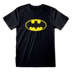 Batman Unisex Voksen Logo T-skjorte Svart/gul L