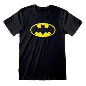 Batman Unisex Voksen Logo T-skjorte Svart/gul XL