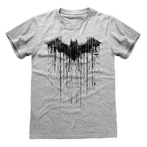 Batman Unisex Voksen Drypper T-skjorte Grå/Svart Heather S