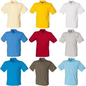 Henbury Kortermet Mens 65/35 Pique Polo skjorte Turkis XL
