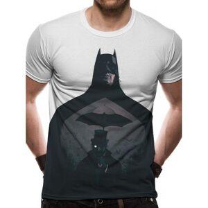 Batman unisex voksne silhouette design sublimert T-skjorte Hvit M