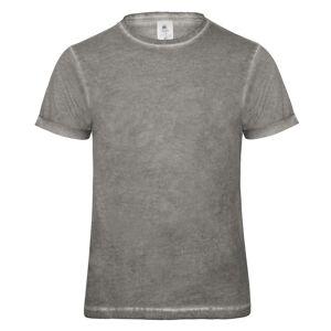 B&C B & C Denim Mens koble kort erme t-skjorte Blå sammenstøt M