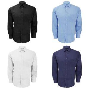 Kustom Kit Kustom orientert Kit Mens langermet Business skjorte Hvit 17.5inch
